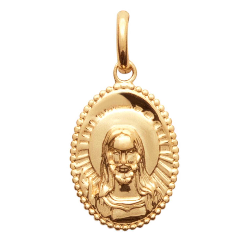 b351b091ea39f Pendentif Jésus en plaqué or. Ovale Adolescent Adulte Communion Femme Fille  Garçon Homme Indémodable Mixte