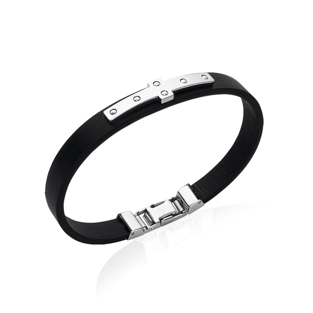 bracelet cuir homme croix