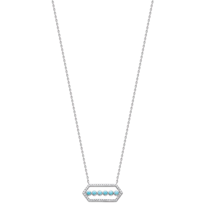 Collier en argent 925 000 rhodié, oxyde de zirconium et pierres d imitation 6577374c3659