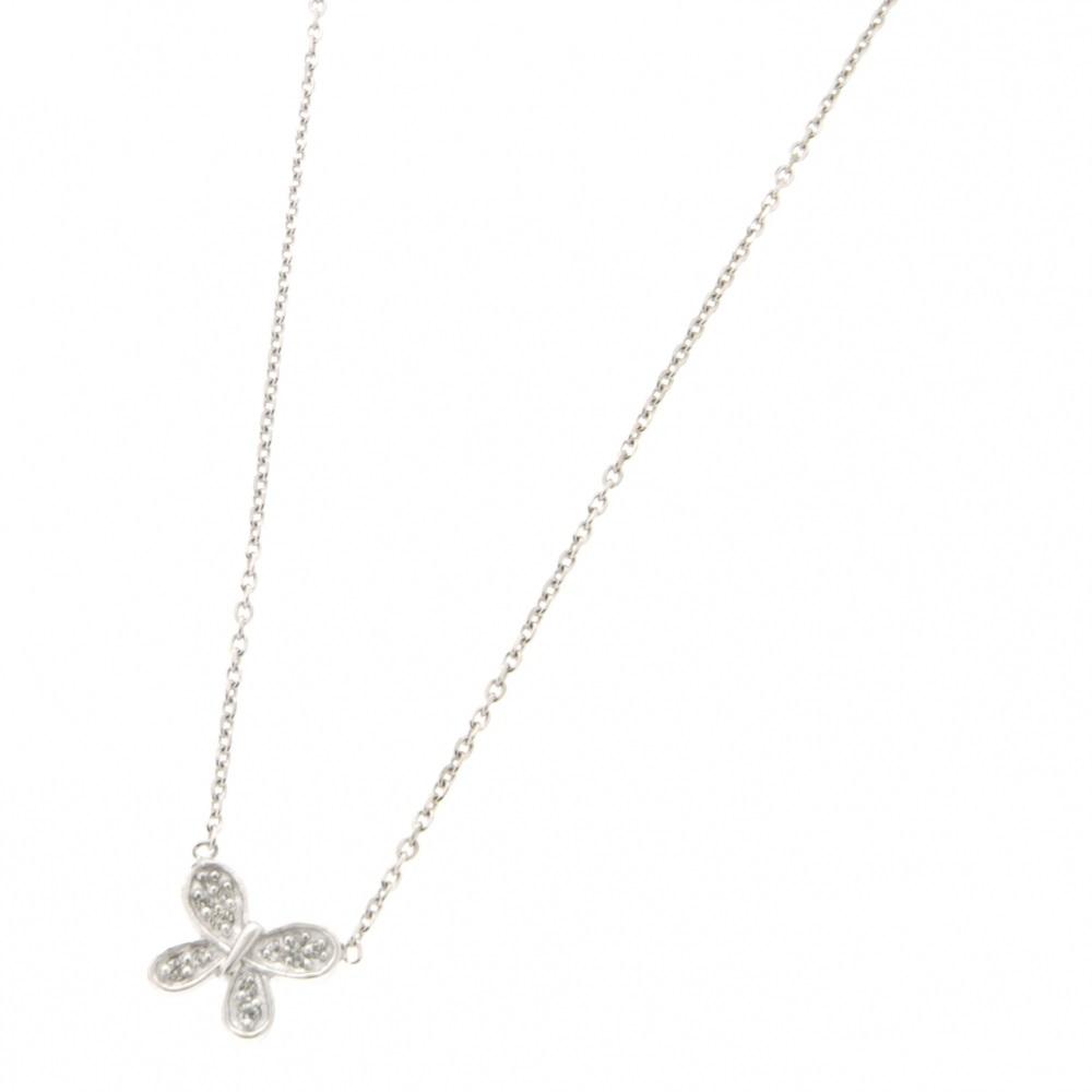 e95f394ec3e27 Collier avec pendentif papillon en argent 925/000 rhodié et oxydes de  zirconium. Papillon