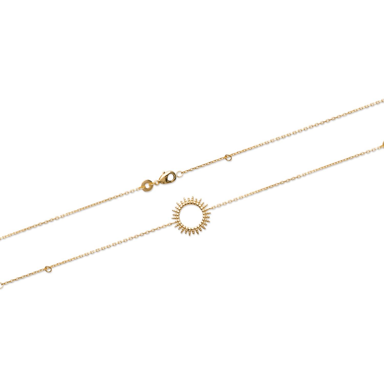 14b3de97e194b Bracelet soleil en plaqué or. Rond Soleil Adolescent Adulte Femme Fille  Indémodable Nature