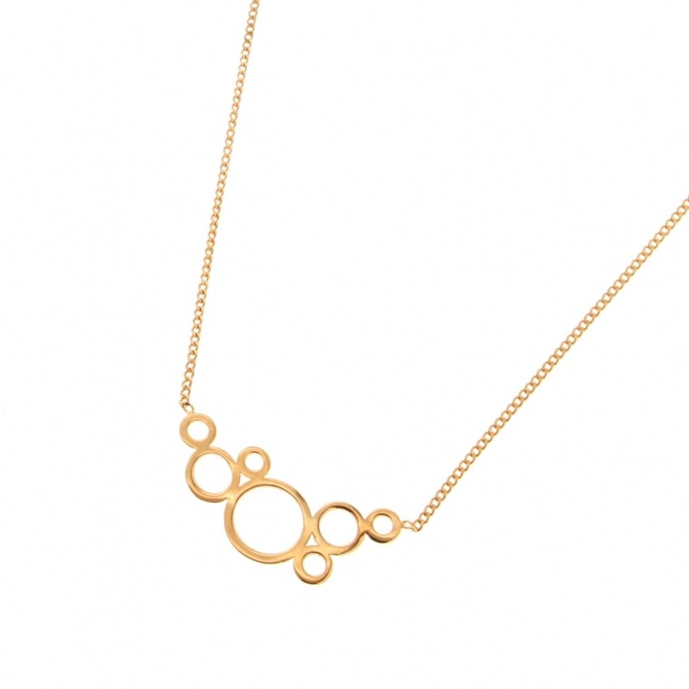 a3174f1673e6b Collier avec multi cercles en plaqué or. Cercle Rond Adolescent Adulte  Femme Fille Indémodable