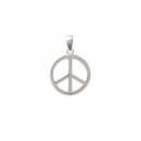Pendentif Peace and love en argent 925/000 rhodié. Peace and love  Adolescent Adulte Femme Fille Indémodable Symboles