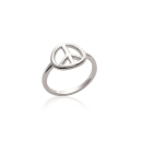 Bague Peace and love en argent 925/000 rhodié. Peace and love  Adolescent Adulte Femme Fille Indémodable Symboles